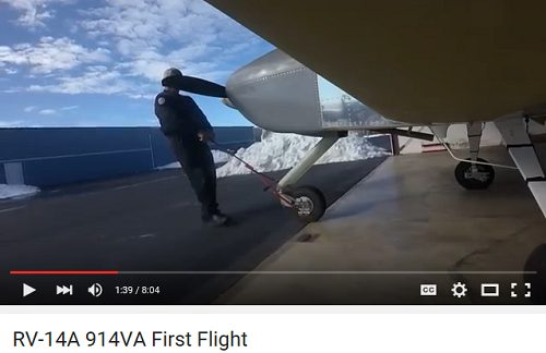 N914VA RV 14A First Flight Video Mitch Lock